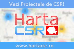 Harta Proiectelor CSR din Romania