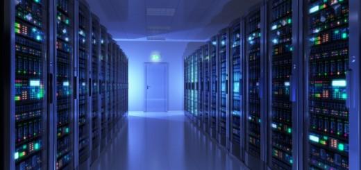 Schneider Blue Data Center Room