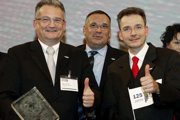 Premiu Dr. Werner Struth (stanga),Hans Hoffmann (mijloc), Bernd Gschaider (dreapta)1