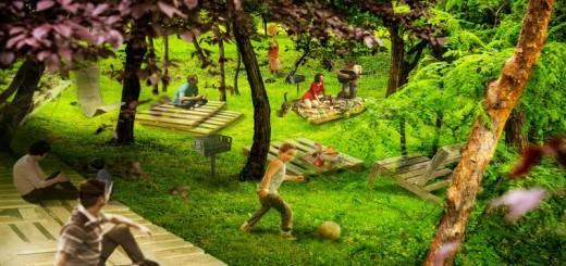 Eco-Rom_Ambalaje_Orasul_Reciclarii_Premiu oras castigator_Pallet Picnic Park