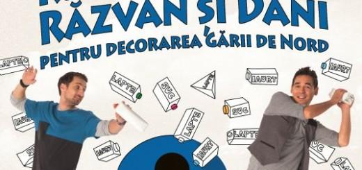 Tetra_Pak_Carrefour_Romania_Recicleaza_cu_Razvan_si_Dani_pentru_decorarea_Garii_de_Nord_2012