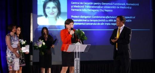 Gala_L'oreal UNESCO_Finalistele sectiunii Stiintele Vietii_dr Simona Gurzu_2013