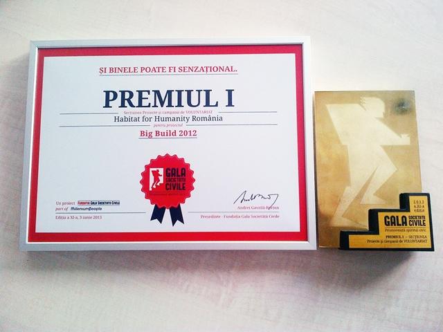 Premiu I Voluntariat Gala Societatii Civile - Habitat