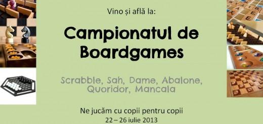Invitatie Campionatul de Boardgames