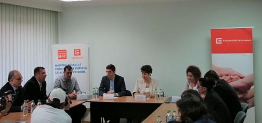 Conferinta de presa - aparatura oferita de CEZ Romania Spitalului Judetean din Valcea 2015