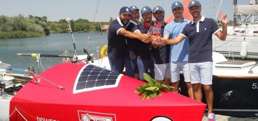 Lansarea la apa a barcii Atlantic4_