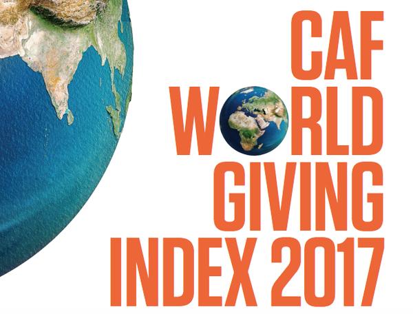 Indexul generozitatii CAF 2017