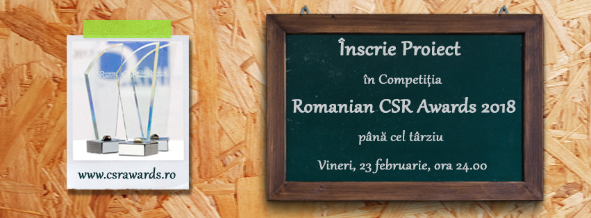 Romanian CSR Awards - Inscrieri 2018