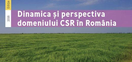 Coperta -Studiul Dinamica si perspectiva Domeniului CSR in Romania 2018
