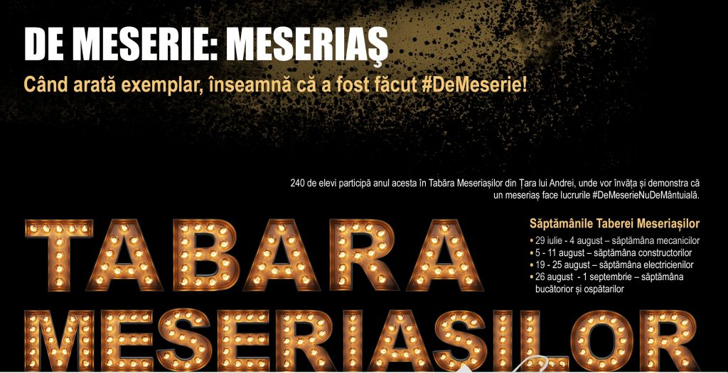 Tabara Meseriasilor 2018