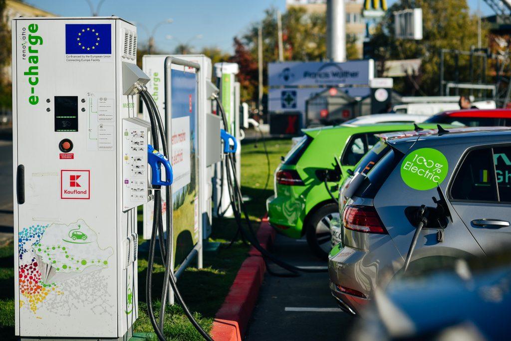 Kaufland - hub statie incarcare masini electrice