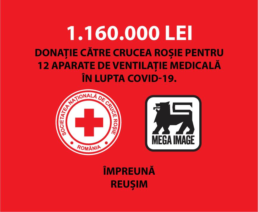 Mega Image donatie Crucea Rosie