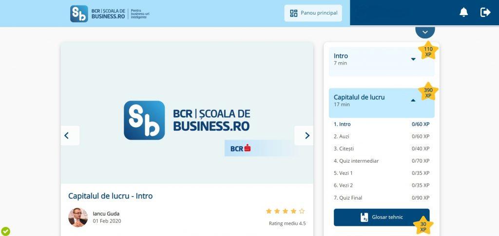 Platforma BCR Scoala de Business