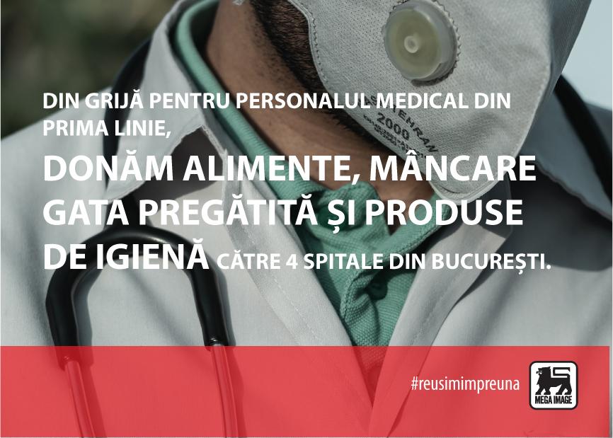 Mega Image - Donatii spitale