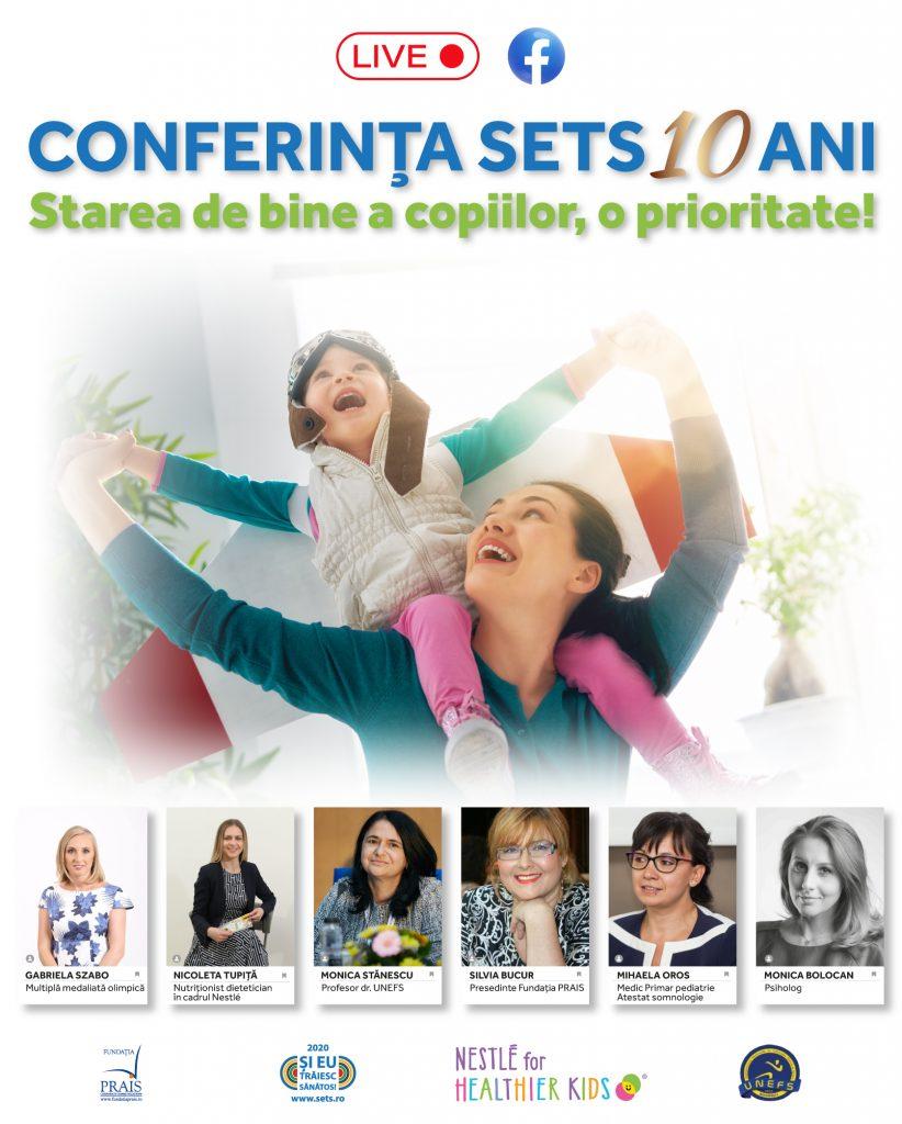 Conferinta SETS 10 ani - Starea de bine a scolarilor, o prioritate - 26 noiembrie 2020
