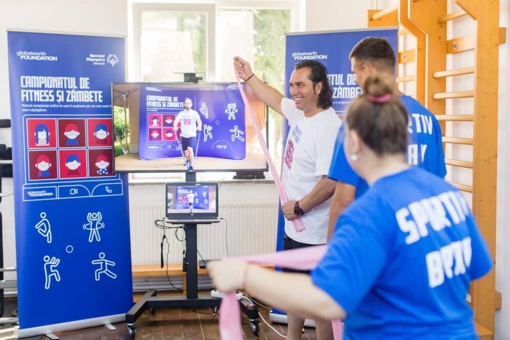 Fundația Globalworth aduce prima soluție digitală pentru sport virtual în centrele de plasament din România (1)